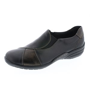 Black Combo Orthotic Friendly Loafer
