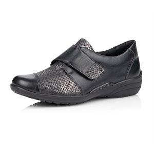 Soulier à Velcro, Noir R7628-02