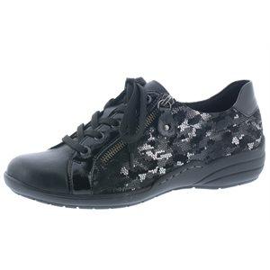 Black / Multi Lace Shoe R7629-02