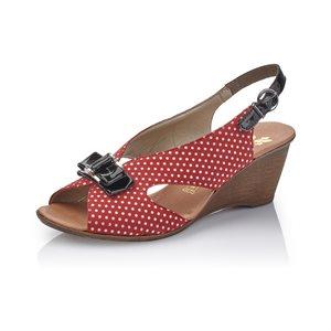 Red Multi Wedge Sandal V1171-33