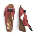 Red Multi Wedge Sandal V1171-33