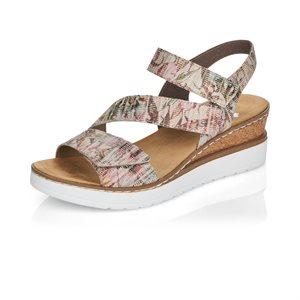 Grey Wedge Heel Sandal V3887-90