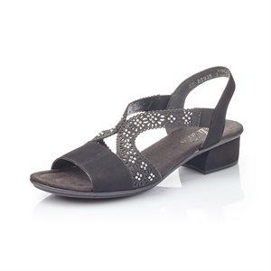 Black High Heel Sandal V6216-00